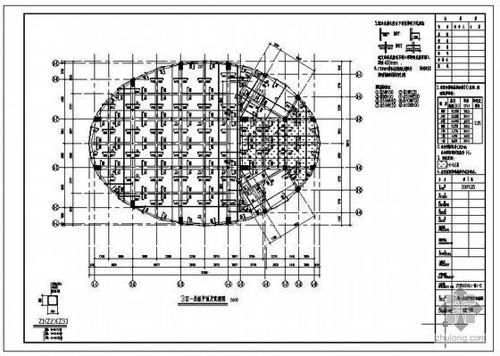 东莞某医院阶梯教室框架结构设计图