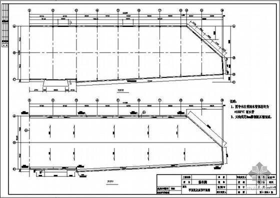 烟台某门式刚架车间建筑结构图
