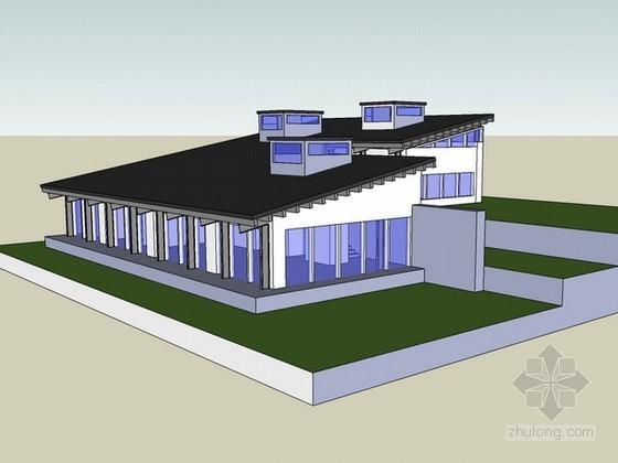 山语间别墅sketchup模型