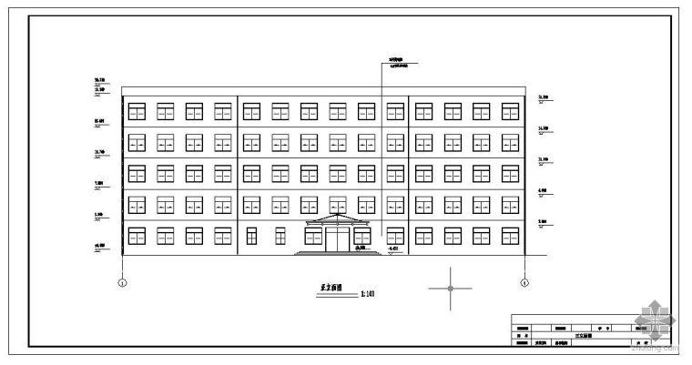 [学士]江苏镇江市某建筑设计院办公楼毕业设计(含计算书、部分建筑结构设计图)