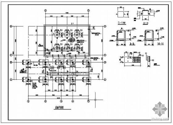 某煤气站循环水泵房结构设计图