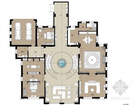 [宁夏]新中式三层别墅室内装修方案
