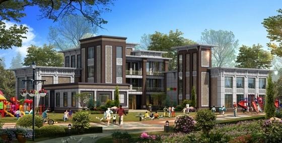 [陕西]现代绿色宜居高层安置住宅小区规划设计方案文本(含CAD)-现代绿色宜居高层安置住宅小区效果图