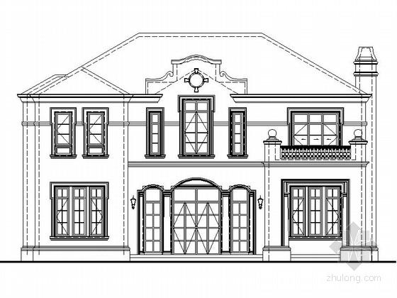 [上海]多层简欧风格高档别墅区规划设计施工图(知名设计院)