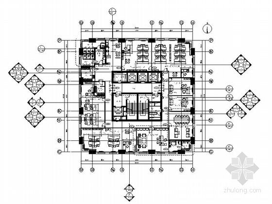 [甘肃]现代金融机构办公楼室内装修施工图