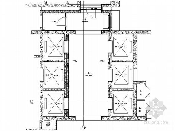 酒店简约电梯厅室内装修图