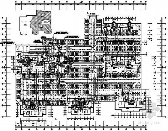高层住宅楼地下车库电气施工图纸