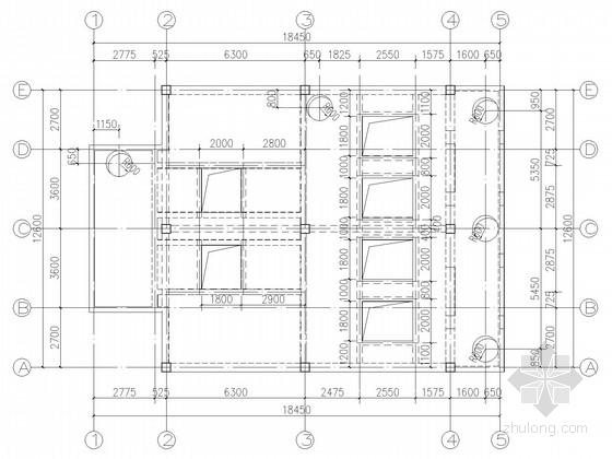 雨水泵站工程泵房框架结构施工图