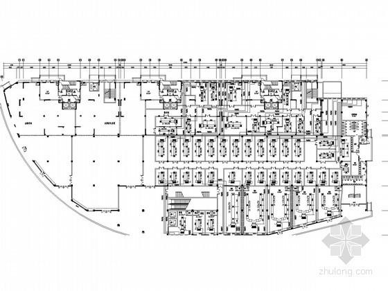 [湖北]大型商业广场暖通空调系统设计施工图(五大分区)