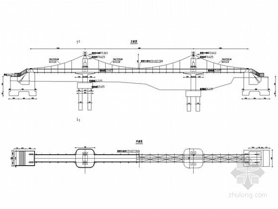 20+40+20m人行悬索桥全套施工图(32张)