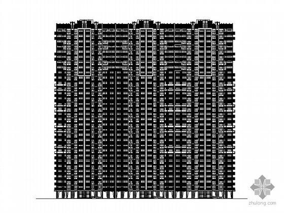 [武汉]某上城1号楼三十二层塔式住宅楼建筑施工图(一梯四户)