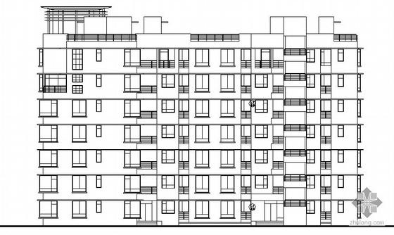 [深圳]某花园小区住宅楼群建筑施工图(有8张效果图)