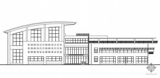 [北京市]某附属中学体育馆建筑结构水暖电施工图