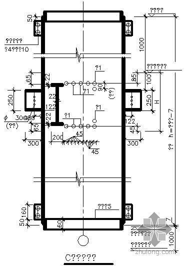 某圆钢骨柱与混凝土梁连接大样节点构造详图(一)