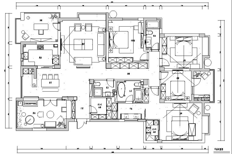 [杭州]东海水景城住宅样板间设计施工图及效果图