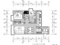 木色简约素雅风三居室住宅设计施工图(附效果图)