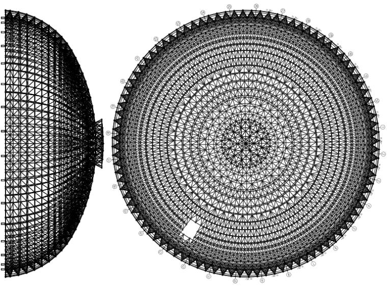 双层壳球结构原料干煤棚结构施工图纸(pdf、19张)