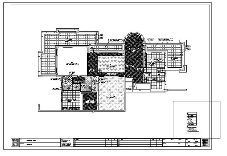 广州九龙湖意大利风格H5别墅室内设计施工图