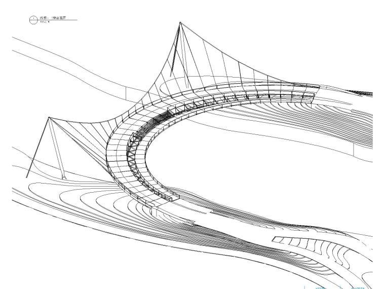 [上海]三个景观桥梁结构施工图(共175张CAD图纸)