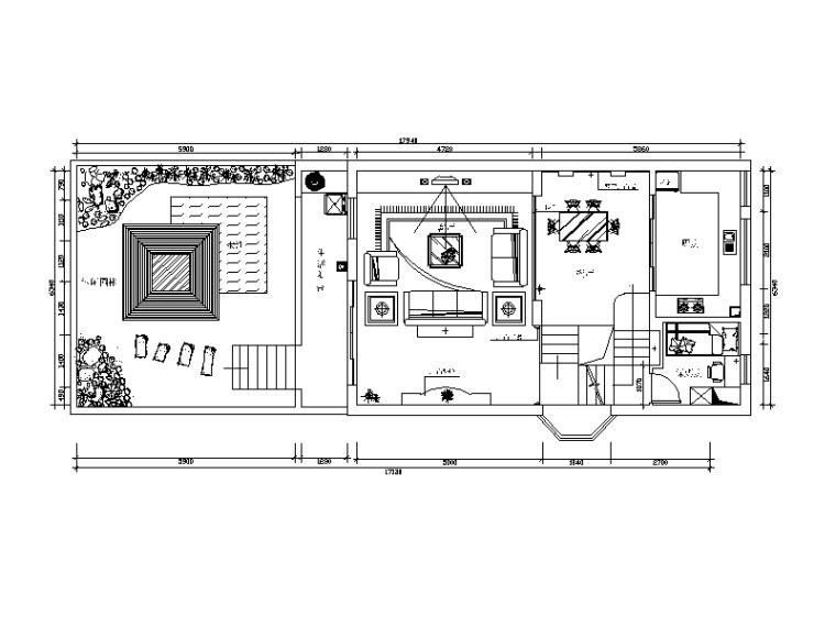 一套歐式風格別墅設計CAD施工圖(含效果圖)