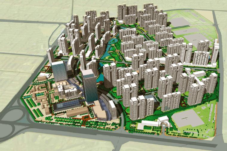 [四川]成都华润置地润府翠城建筑总体规划设计方案