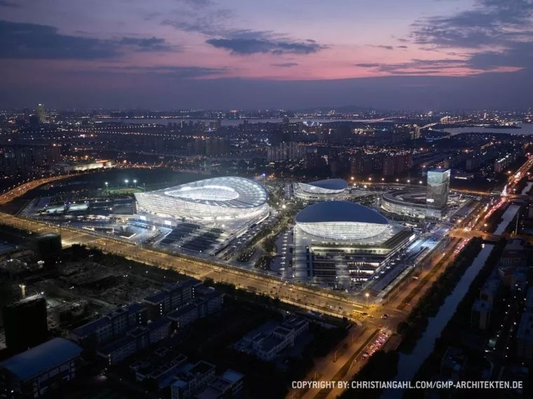 """gmp新作""""苏州奥林匹克体育中心"""",东亚最大的单层索膜结构建筑"""