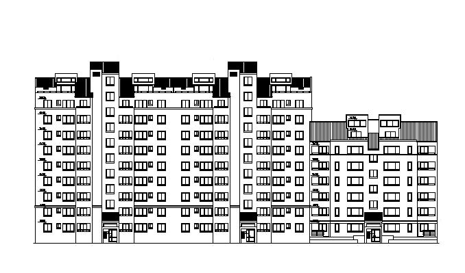 高层住宅商业建筑施工图(全套施工图)
