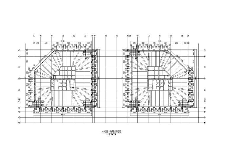 金融贸易中心幕墙工程施工图(2014)-塔楼38层幕墙平面图