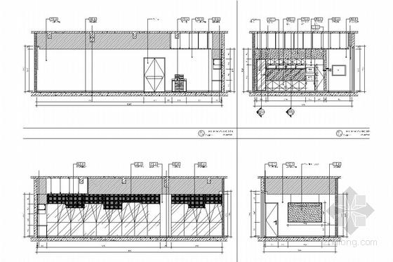 [江苏]省级重点实验中学对外交流中心室施工图 会议室立面图