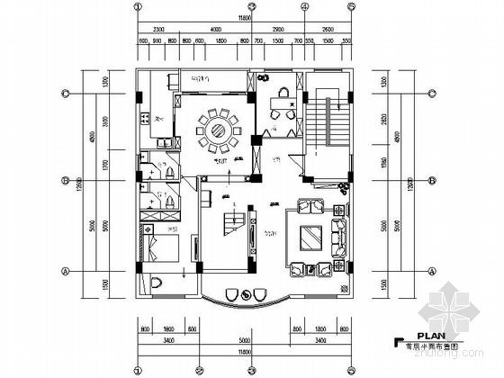 [苏州]华丽高雅欧式三层别墅室内装修施工图(含效果图)