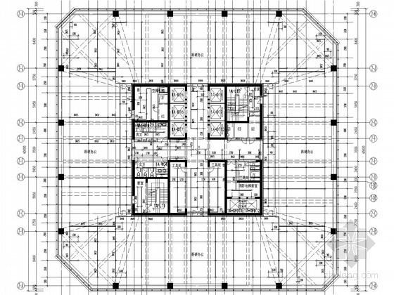 [广东]177米超高层商用办公综合体建筑群给排水消防竣工图( 高空水炮  烟烙尽气体灭火)