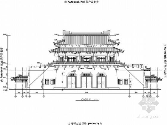 三层公园古建筑全套建筑结构施工图