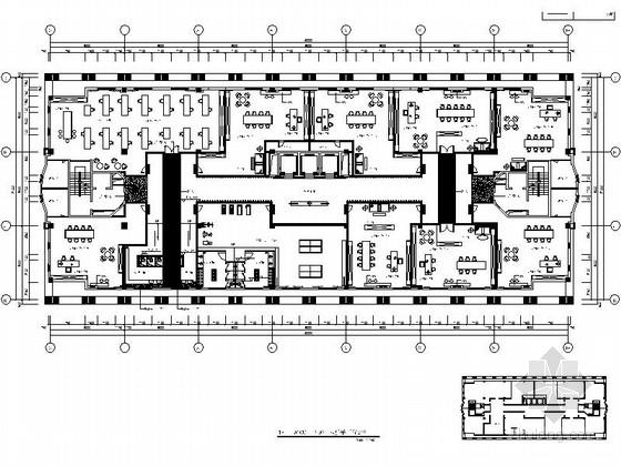 [北京]现代简约大气办公楼公共区域装饰施工图(含效果图)
