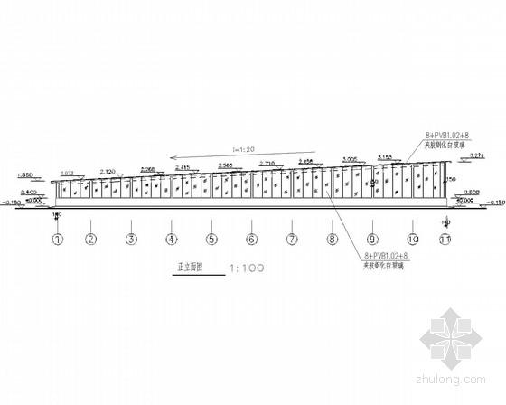 [山东]地下车库入口钢结构施工图