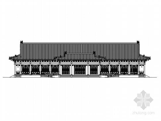 一层歇山式仿古建筑游客中心建筑施工图