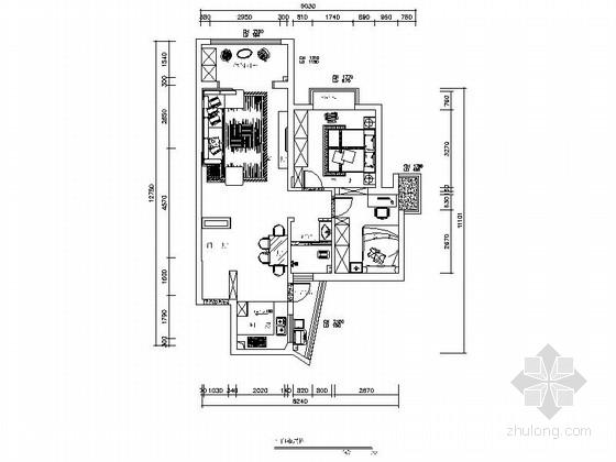 [湖南]创新型小区现代简约两居室设计装修图(含效果)