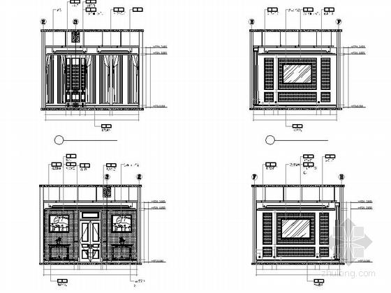 [青岛]欧陆风格三层售楼处室内装修图 立面