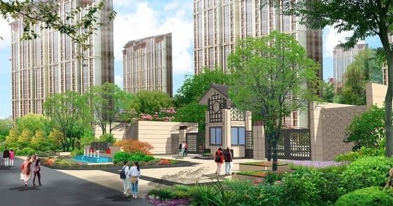 [山西]现代中式皇家园林风格住宅景观设计方案(独家首发)-景观效果图