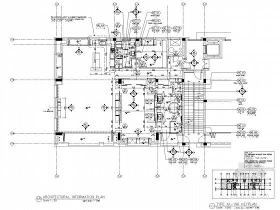 [杭州]湿地公园精装酒店式高档公寓装修施工图(含全套方案PPT)