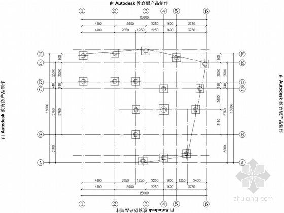 六层框架剪力墙结构私人住宅结构施工图(平法表示)