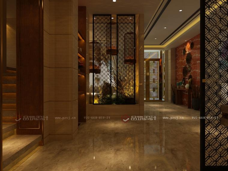 沈阳地产公司办公室设计效果图震撼来袭-4过廊.jpg