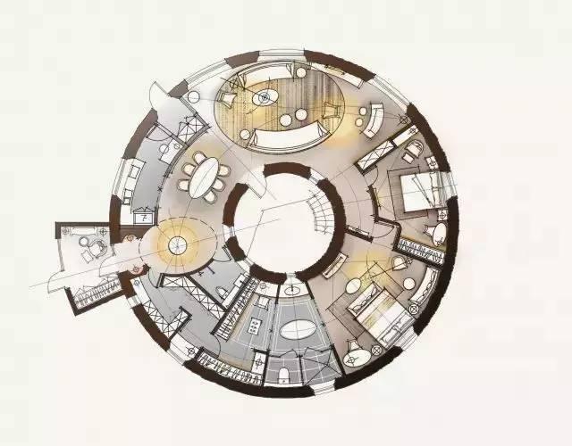 深度解析!一个圆形户型的15个高超方案!_7
