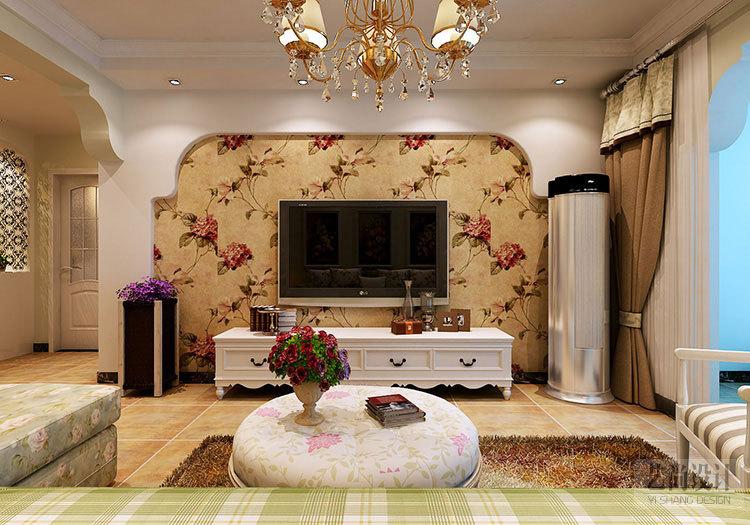 九龙城84平方两室两厅田园风格装修案例