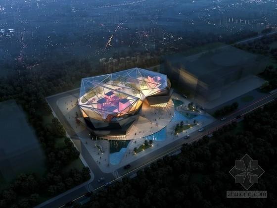[安徽]5层玻璃幕墙展览馆建筑设计方案文本