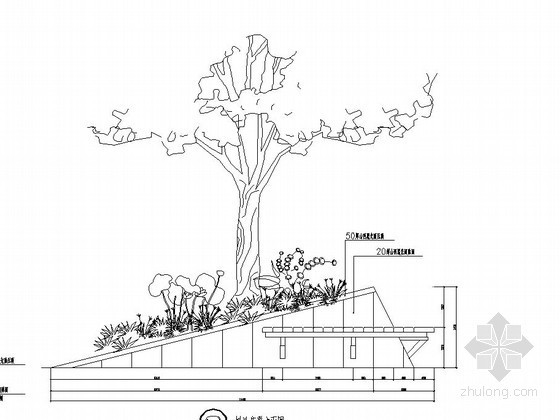 几何造型树池施工图