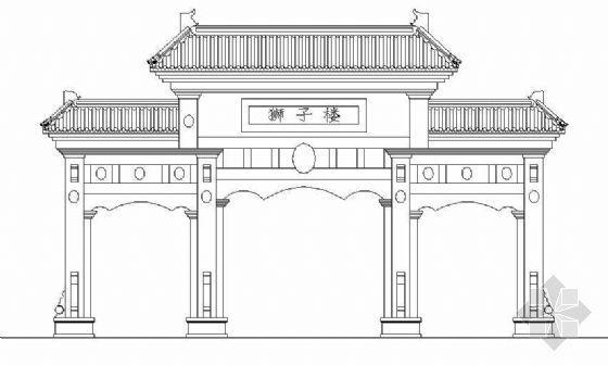 古典牌楼建筑施工图