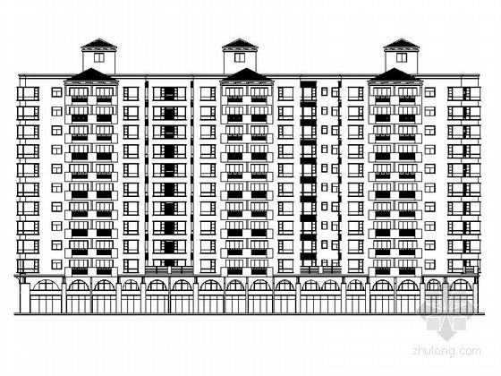 标准型及复式型混合高层住宅建筑施工图(含商业建筑)