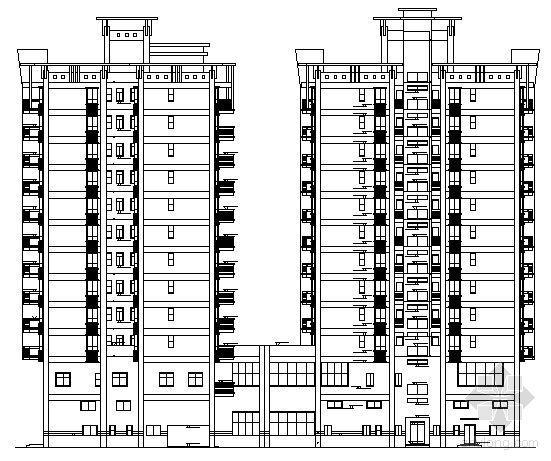 深圳市宝安区某十二层办公楼(商住两用)建筑施工图