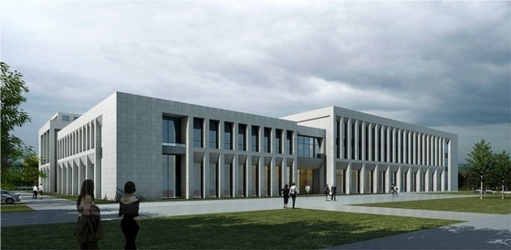 3层现代简约风格办公楼效果图