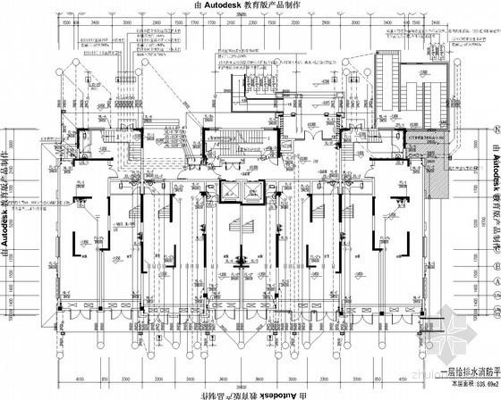[安徽]高层商用住宅建筑水暖施工图